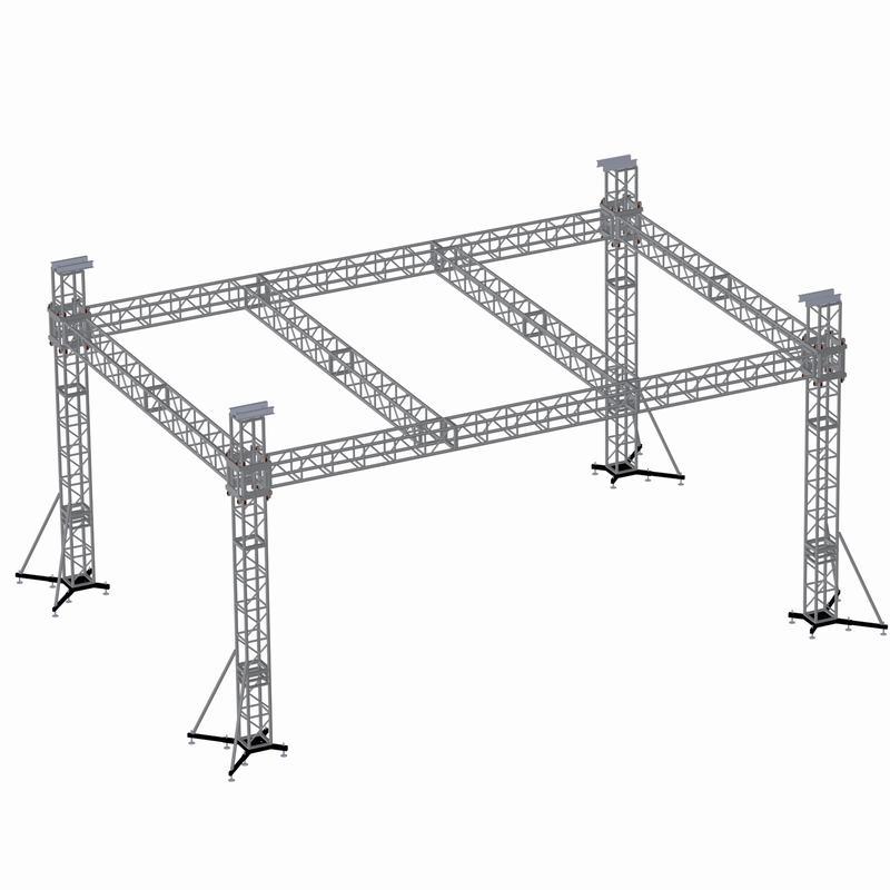 铝合金舞台桁架设计图